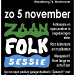 ZaanFolk Sessies 5 november
